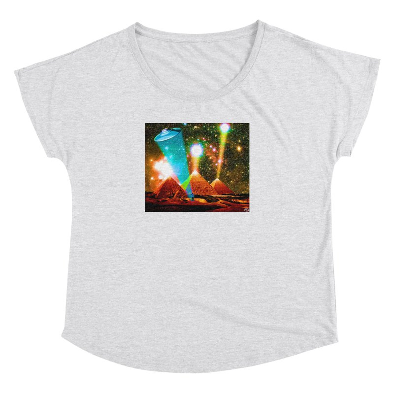 The Pyramids of Giza Aligning with Orion's Belt Women's Dolman Scoop Neck by InspiredPsychedelics's Artist Shop