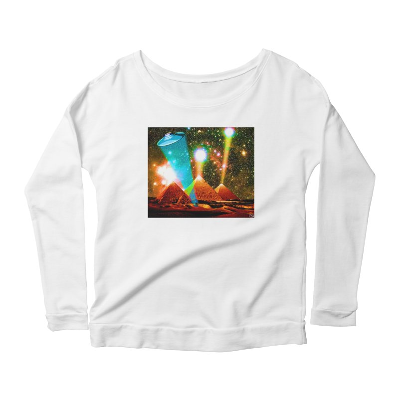 The Pyramids of Giza Aligning with Orion's Belt Women's Scoop Neck Longsleeve T-Shirt by InspiredPsychedelics's Artist Shop