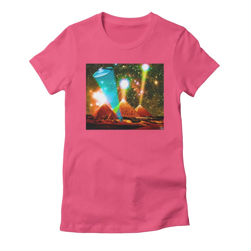 The Pyramids of Giza Aligning with Orion's Belt Women's Fitted T-Shirt by InspiredPsychedelics's Artist Shop