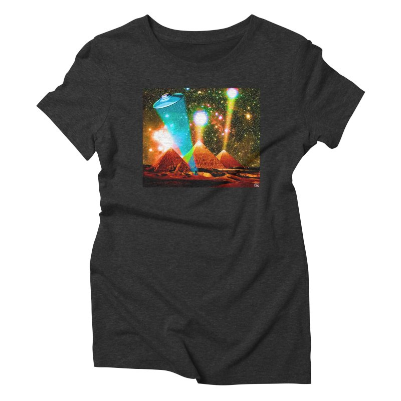 The Pyramids of Giza Aligning with Orion's Belt Women's Triblend T-Shirt by InspiredPsychedelics's Artist Shop