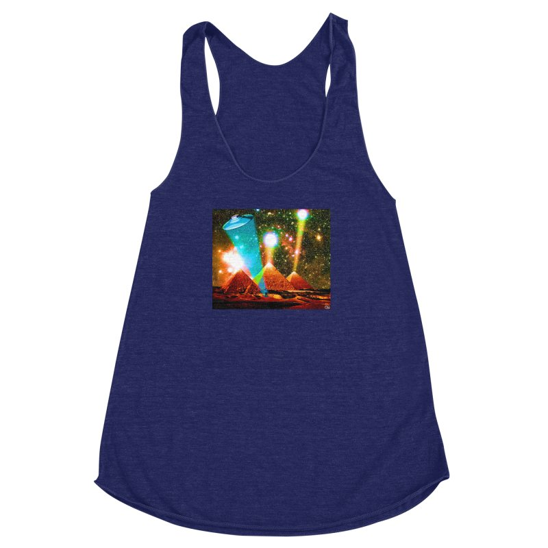 The Pyramids of Giza Aligning with Orion's Belt Women's Racerback Triblend Tank by InspiredPsychedelics's Artist Shop