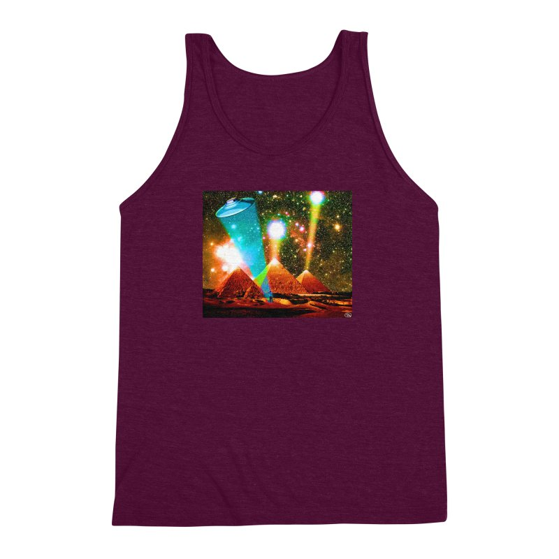 The Pyramids of Giza Aligning with Orion's Belt Men's Triblend Tank by InspiredPsychedelics's Artist Shop