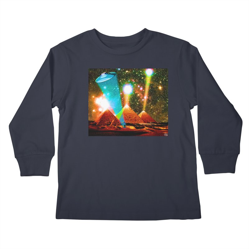 The Pyramids of Giza Aligning with Orion's Belt Kids Longsleeve T-Shirt by InspiredPsychedelics's Artist Shop