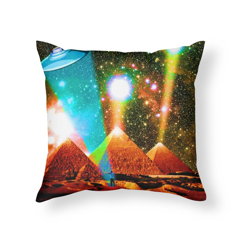 The Pyramids of Giza Aligning with Orion's Belt Home Throw Pillow by InspiredPsychedelics's Artist Shop
