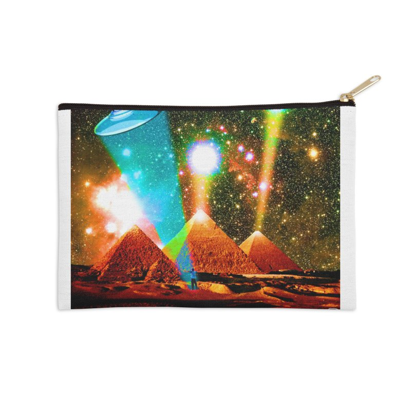 The Pyramids of Giza Aligning with Orion's Belt Accessories Zip Pouch by InspiredPsychedelics's Artist Shop