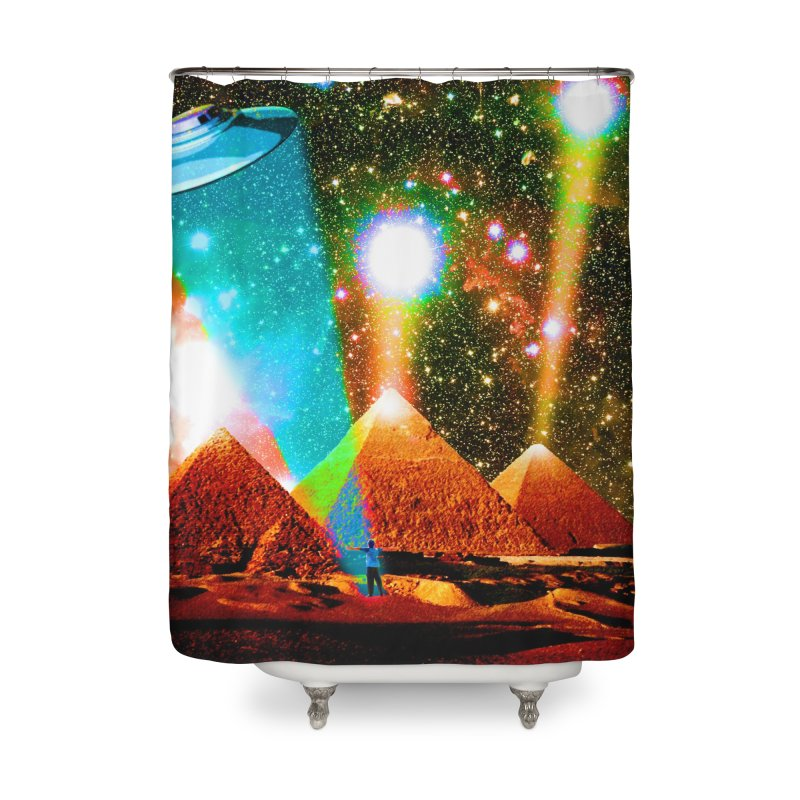 The Pyramids of Giza Aligning with Orion's Belt Home Shower Curtain by InspiredPsychedelics's Artist Shop