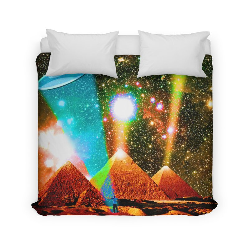 The Pyramids of Giza Aligning with Orion's Belt Home Duvet by InspiredPsychedelics's Artist Shop