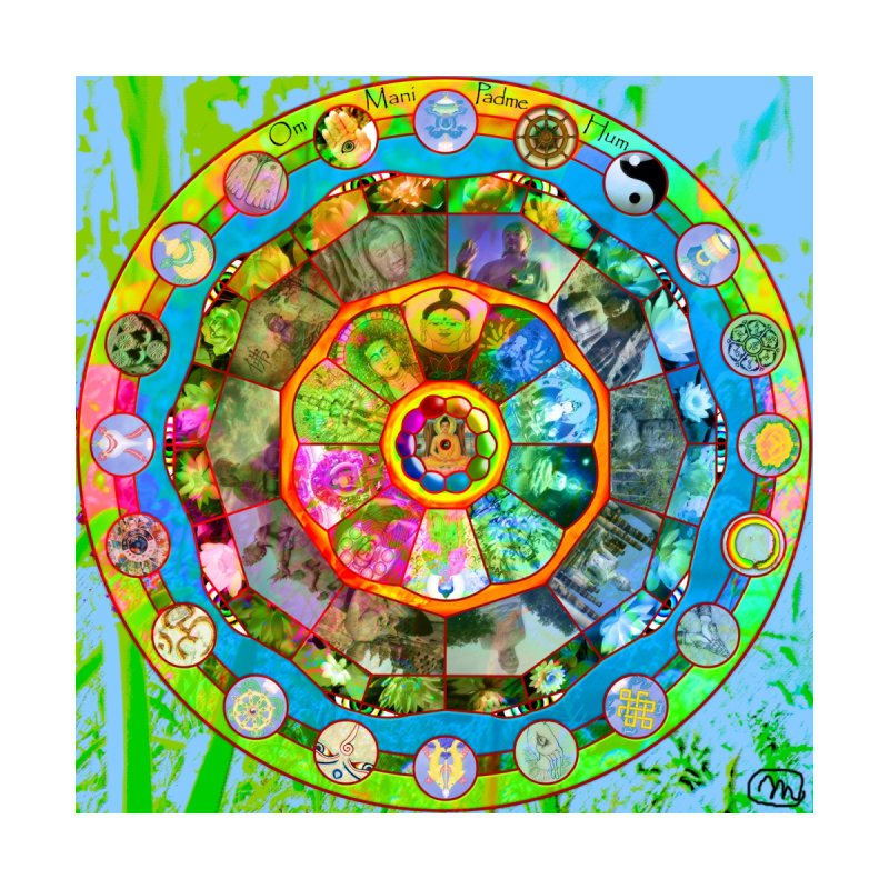 Buddhism Mandala Wall Art by InspiredPsychedelics's Artist Shop