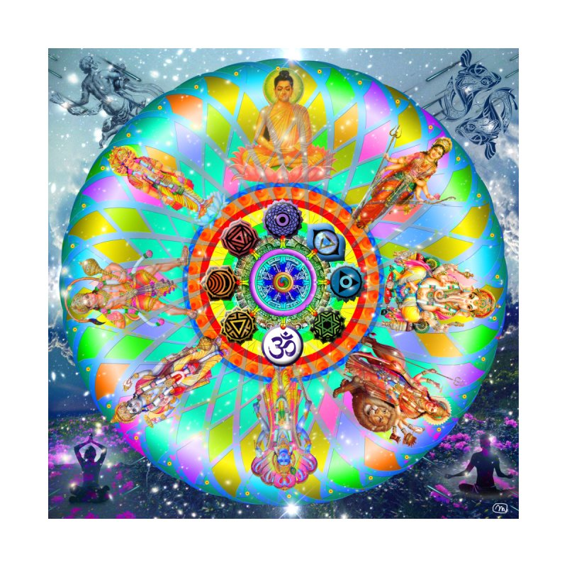 Hindu Mandala Wall Art by InspiredPsychedelics's Artist Shop