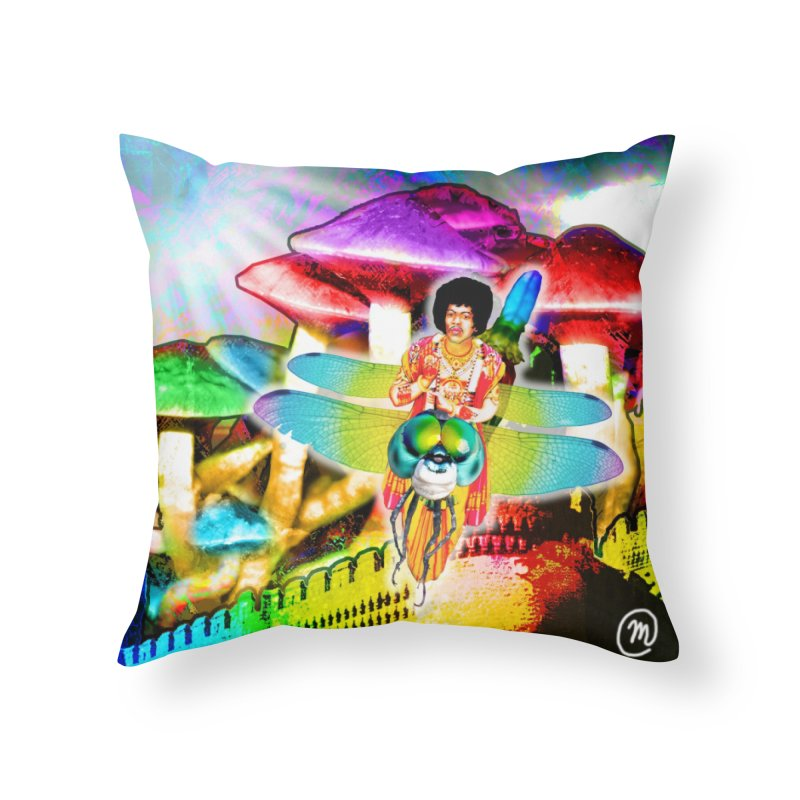 Spanish Castle Magic Wall Art and Accessories Home Throw Pillow by InspiredPsychedelics's Artist Shop