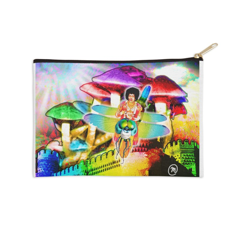Spanish Castle Magic Wall Art and Accessories Accessories Zip Pouch by InspiredPsychedelics's Artist Shop