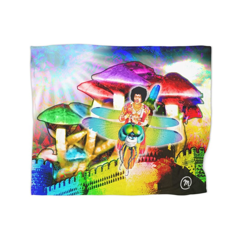 Spanish Castle Magic Wall Art and Accessories Home Fleece Blanket Blanket by InspiredPsychedelics's Artist Shop
