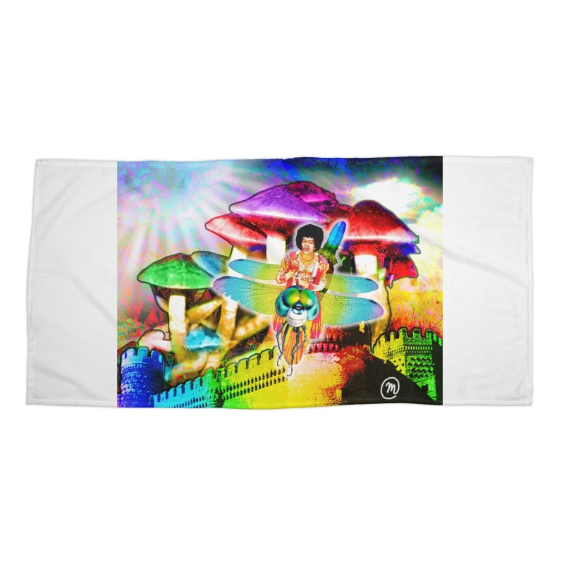 Spanish Castle Magic Wall Art and Accessories Accessories Beach Towel by InspiredPsychedelics's Artist Shop
