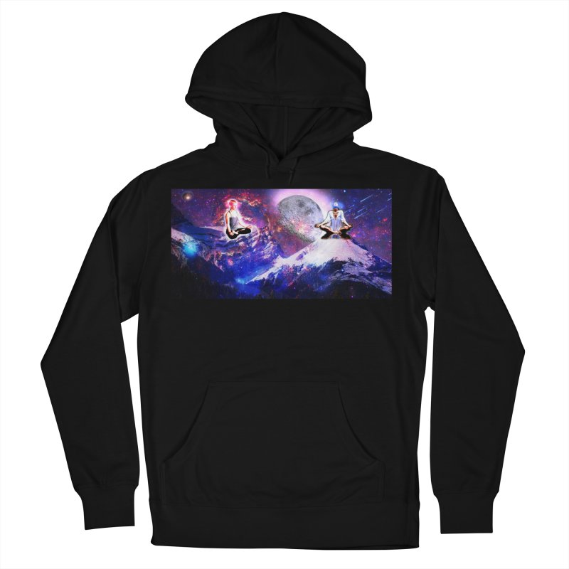Meditation on the Mountain with Universe Women's French Terry Pullover Hoody by InspiredPsychedelics's Artist Shop