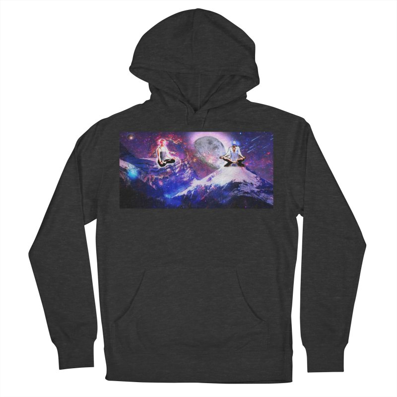 Meditation on the Mountain with Universe Men's French Terry Pullover Hoody by InspiredPsychedelics's Artist Shop