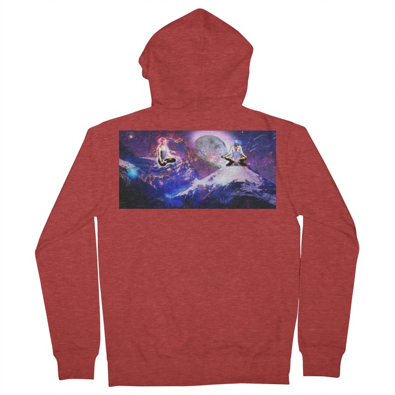 Meditation on the Mountain with Universe Women's French Terry Zip-Up Hoody by InspiredPsychedelics's Artist Shop