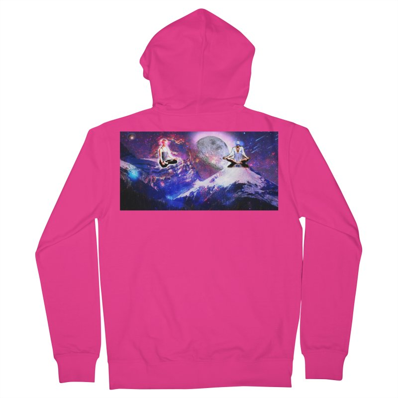Meditation on the Mountain with Universe Men's French Terry Zip-Up Hoody by InspiredPsychedelics's Artist Shop
