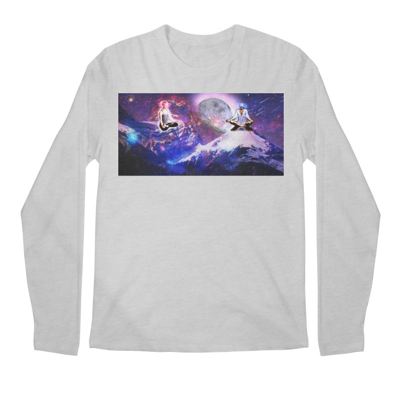 Meditation on the Mountain with Universe Men's Regular Longsleeve T-Shirt by InspiredPsychedelics's Artist Shop