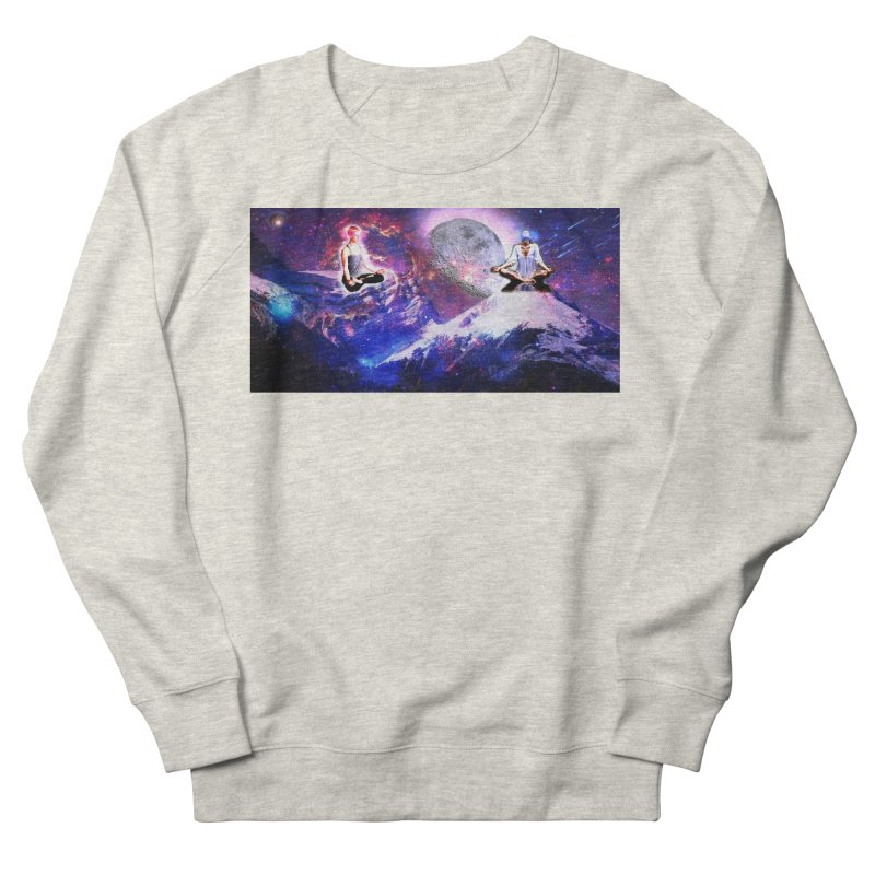 Meditation on the Mountain with Universe Women's French Terry Sweatshirt by InspiredPsychedelics's Artist Shop