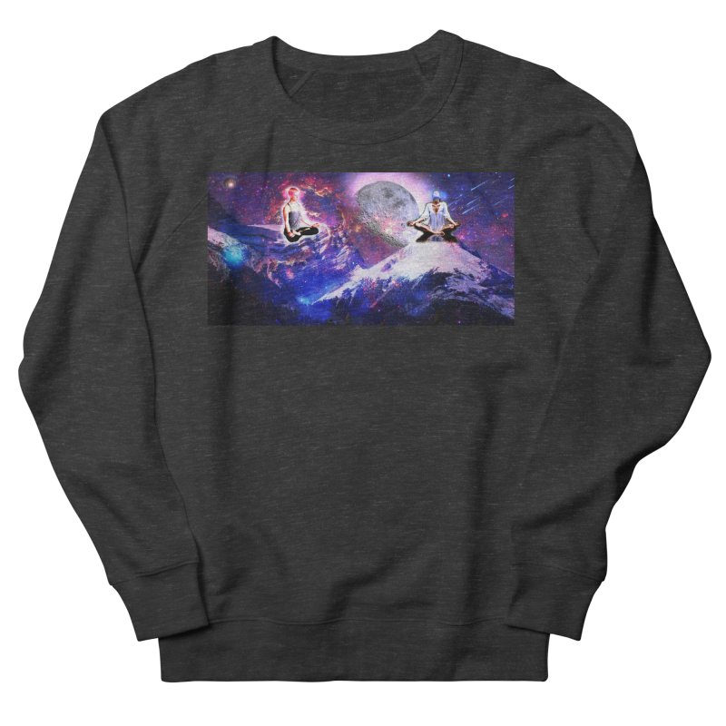 Meditation on the Mountain with Universe Men's French Terry Sweatshirt by InspiredPsychedelics's Artist Shop