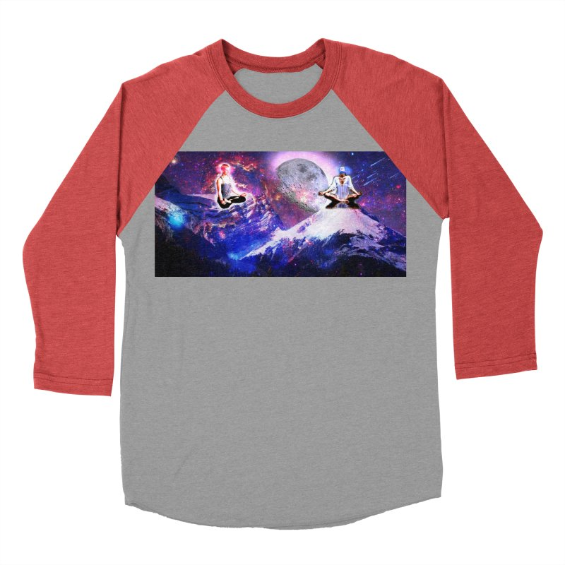 Meditation on the Mountain with Universe Men's Baseball Triblend Longsleeve T-Shirt by InspiredPsychedelics's Artist Shop