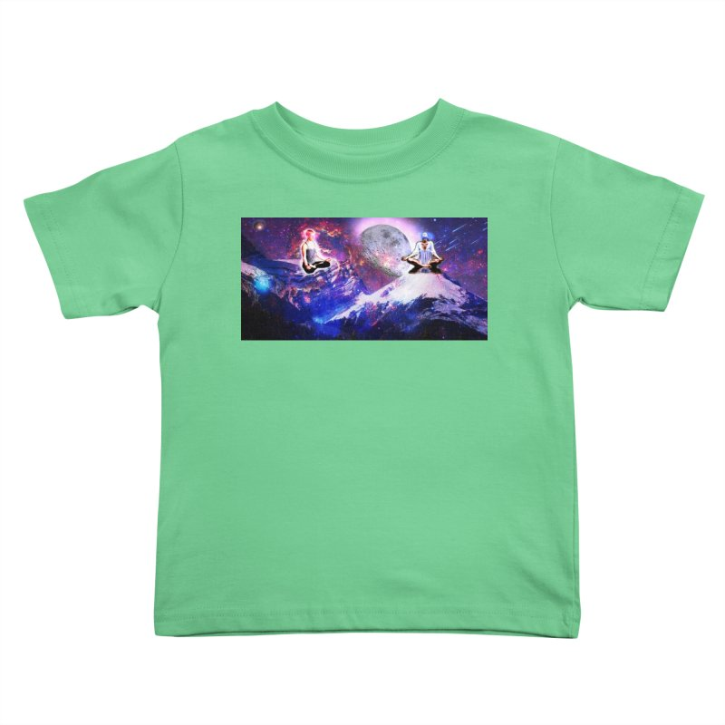 Meditation on the Mountain with Universe Kids Toddler T-Shirt by InspiredPsychedelics's Artist Shop