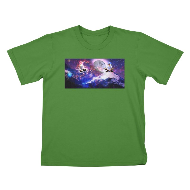 Meditation on the Mountain with Universe Kids T-Shirt by InspiredPsychedelics's Artist Shop