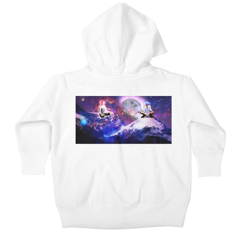 Meditation on the Mountain with Universe Kids Baby Zip-Up Hoody by InspiredPsychedelics's Artist Shop