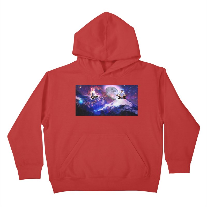 Meditation on the Mountain with Universe Kids Pullover Hoody by InspiredPsychedelics's Artist Shop