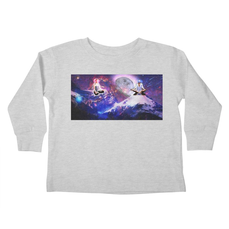 Meditation on the Mountain with Universe Kids Toddler Longsleeve T-Shirt by InspiredPsychedelics's Artist Shop