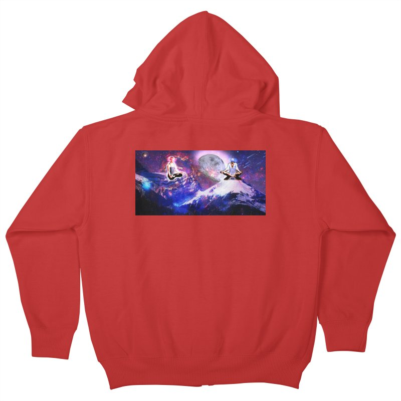 Meditation on the Mountain with Universe Kids Zip-Up Hoody by InspiredPsychedelics's Artist Shop