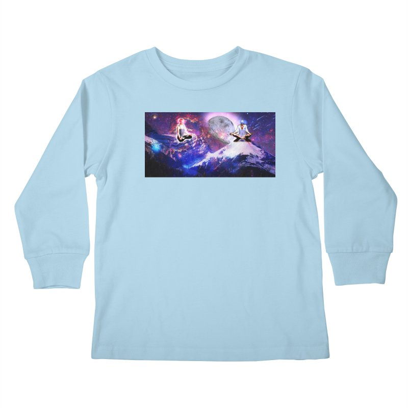 Meditation on the Mountain with Universe Kids Longsleeve T-Shirt by InspiredPsychedelics's Artist Shop