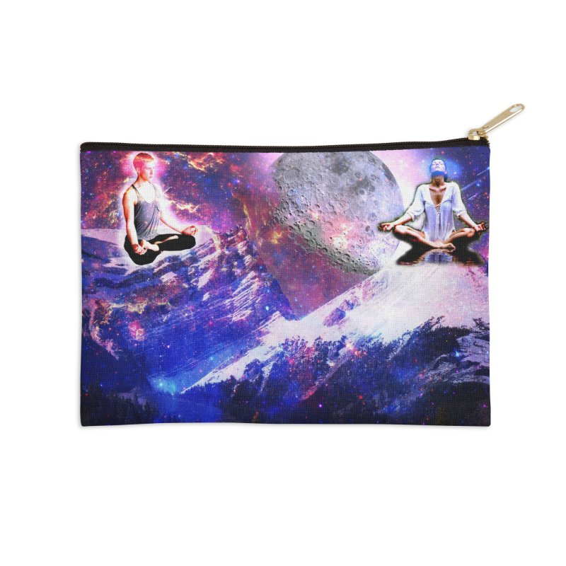 Meditation on the Mountain with Universe Accessories Zip Pouch by InspiredPsychedelics's Artist Shop