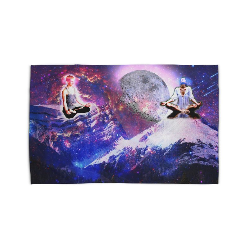 Meditation on the Mountain with Universe Home Rug by InspiredPsychedelics's Artist Shop