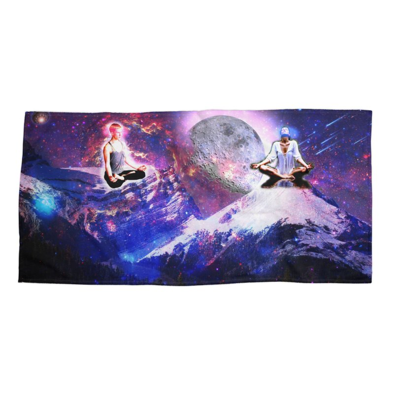 Meditation on the Mountain with Universe Accessories Beach Towel by InspiredPsychedelics's Artist Shop
