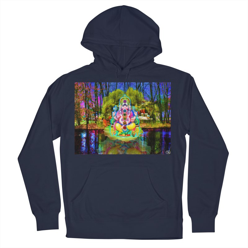 Lord Ganesha Meditating on a Lilly Pad with Willow Tree Women's French Terry Pullover Hoody by InspiredPsychedelics's Artist Shop