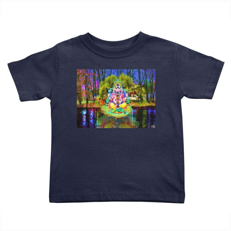 Lord Ganesha Meditating on a Lilly Pad with Willow Tree Kids Toddler T-Shirt by InspiredPsychedelics's Artist Shop