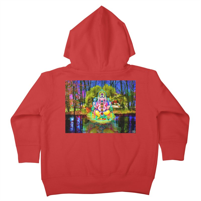 Lord Ganesha Meditating on a Lilly Pad with Willow Tree Kids Toddler Zip-Up Hoody by InspiredPsychedelics's Artist Shop
