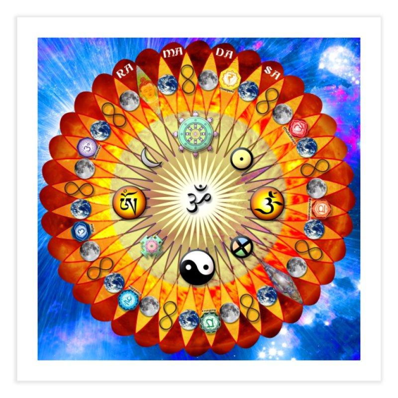 Ra Ma Da Sa Mandala Wall Art Home Fine Art Print by InspiredPsychedelics's Artist Shop