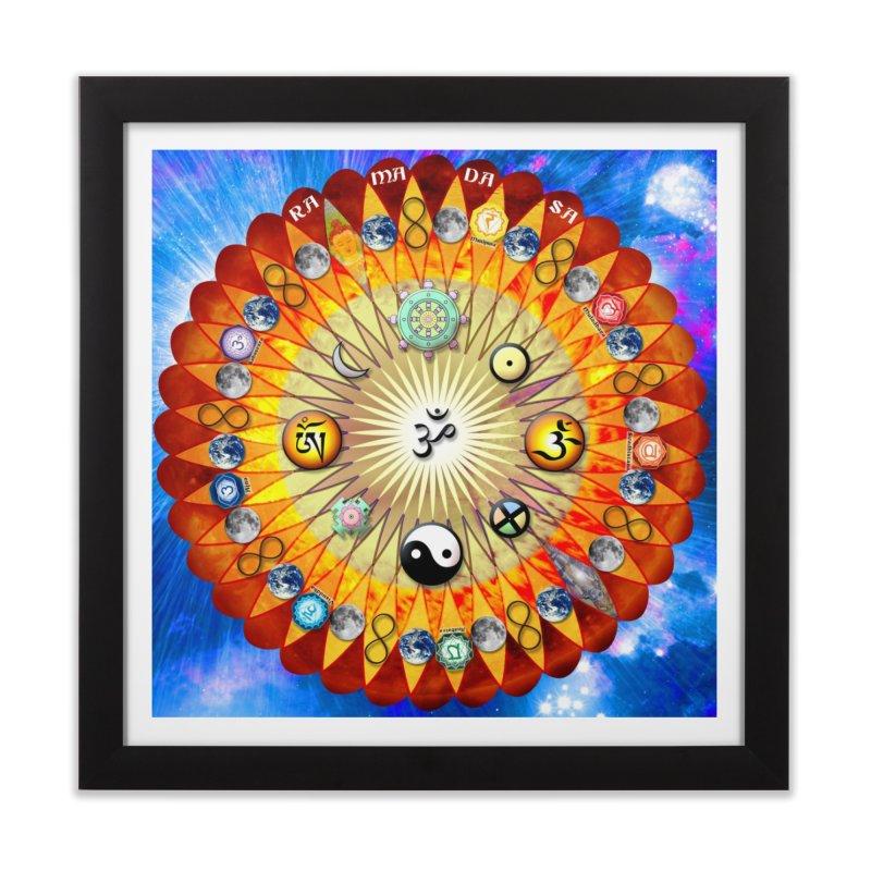 Ra Ma Da Sa Mandala Wall Art Home Framed Fine Art Print by InspiredPsychedelics's Artist Shop