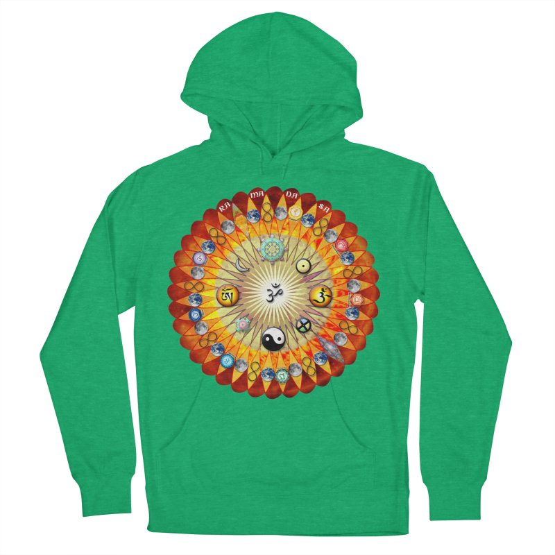 Ra Ma Da Sa Sa Say So Hung Mandala Men's French Terry Pullover Hoody by InspiredPsychedelics's Artist Shop