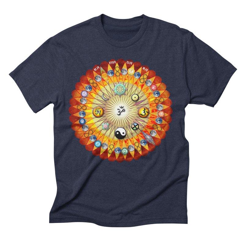 Ra Ma Da Sa Sa Say So Hung Mandala Men's Triblend T-Shirt by InspiredPsychedelics's Artist Shop