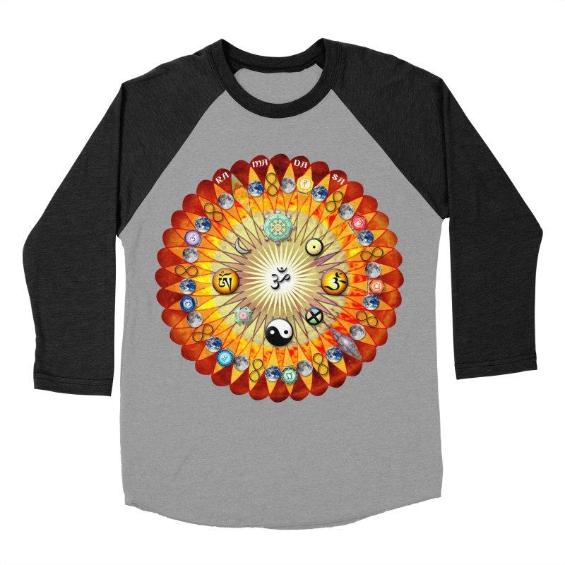 Ra Ma Da Sa Sa Say So Hung Mandala Men's Baseball Triblend Longsleeve T-Shirt by InspiredPsychedelics's Artist Shop