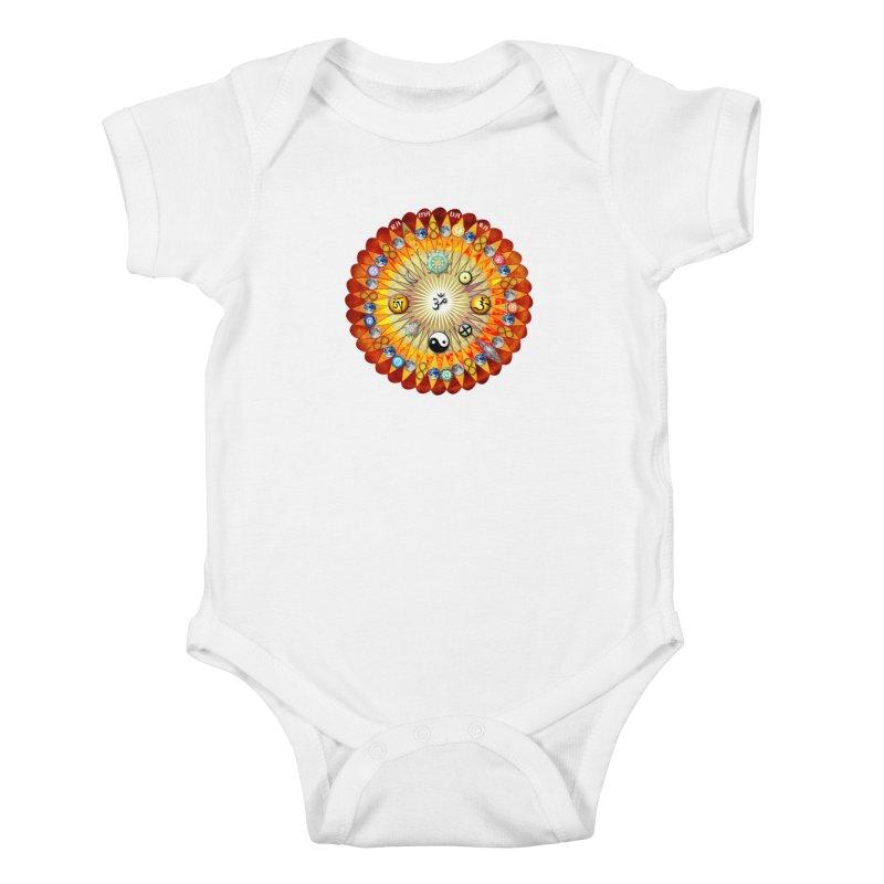 Ra Ma Da Sa Sa Say So Hung Mandala Kids Baby Bodysuit by InspiredPsychedelics's Artist Shop