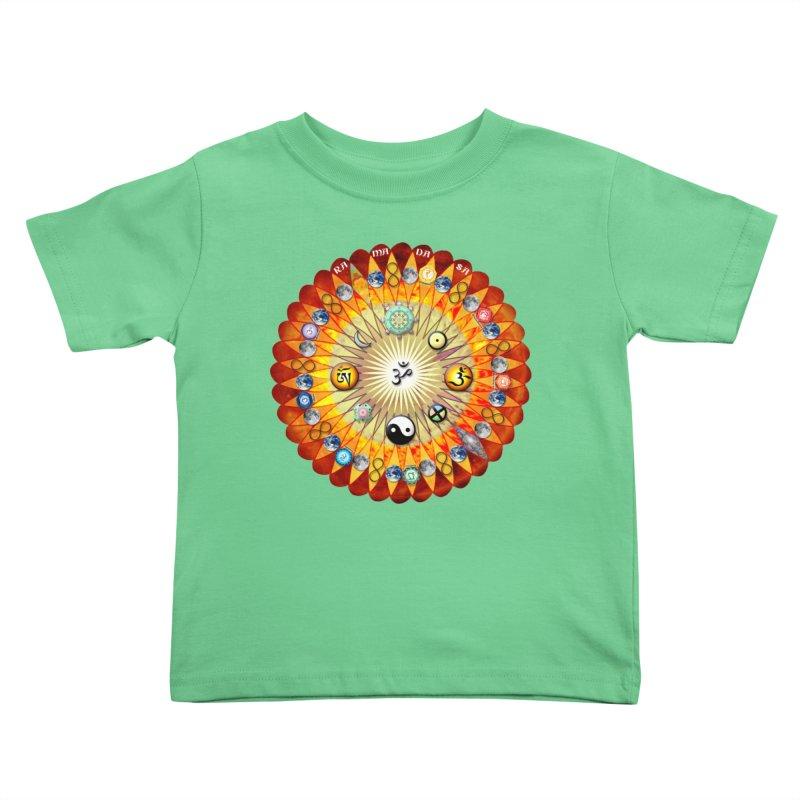Ra Ma Da Sa Sa Say So Hung Mandala Kids Toddler T-Shirt by InspiredPsychedelics's Artist Shop