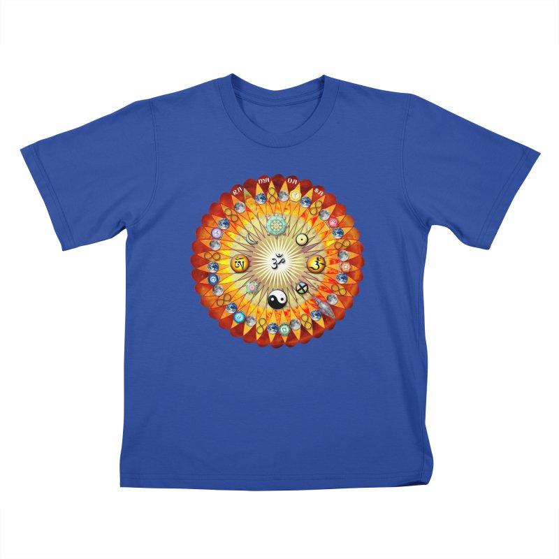 Ra Ma Da Sa Sa Say So Hung Mandala Kids T-Shirt by InspiredPsychedelics's Artist Shop