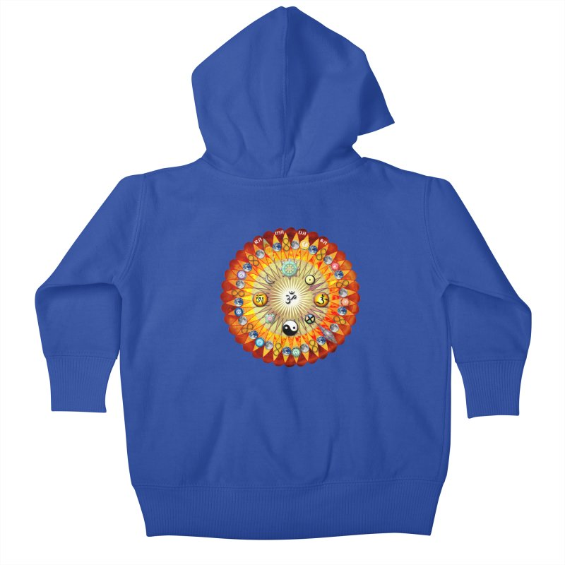 Ra Ma Da Sa Sa Say So Hung Mandala Kids Baby Zip-Up Hoody by InspiredPsychedelics's Artist Shop
