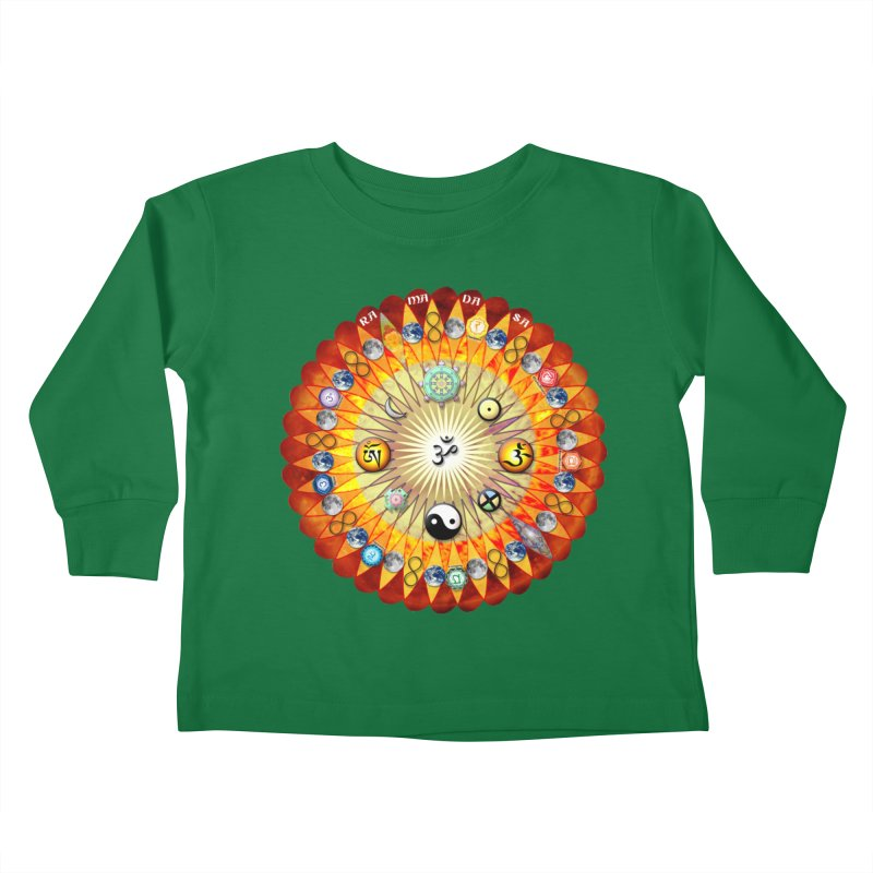 Ra Ma Da Sa Sa Say So Hung Mandala Kids Toddler Longsleeve T-Shirt by InspiredPsychedelics's Artist Shop