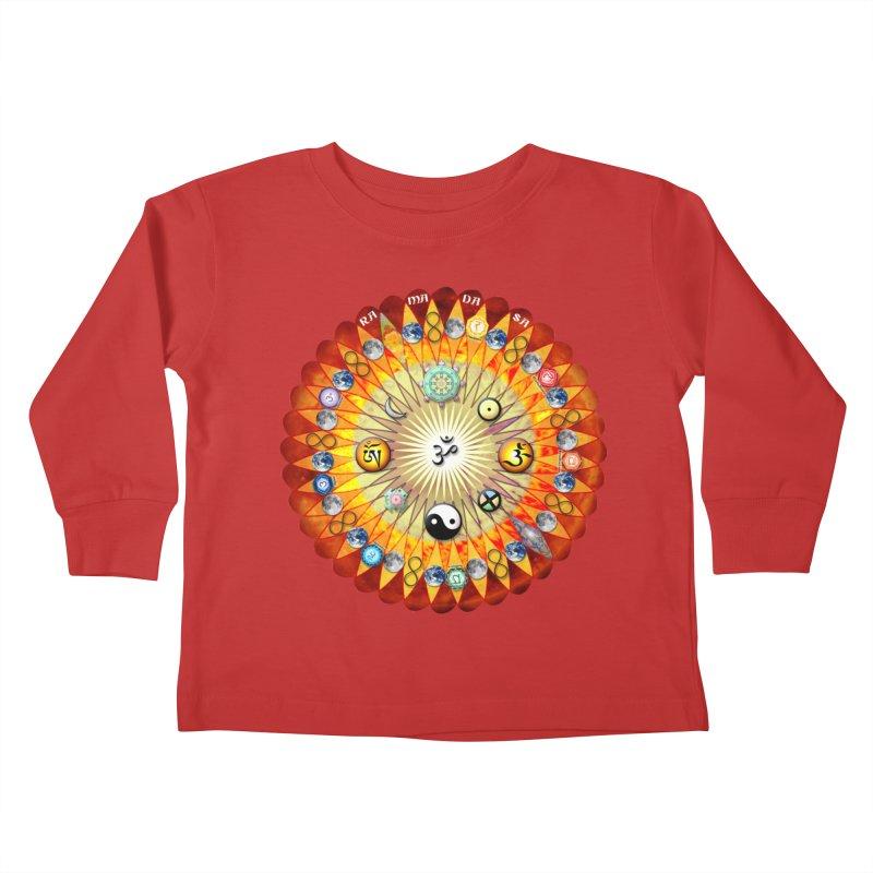 Ra Ma Da Sa Sa Say So Hung Mandala Kids Toddler Longsleeve T-Shirt by InspiredPsychedelics's Artist Shop