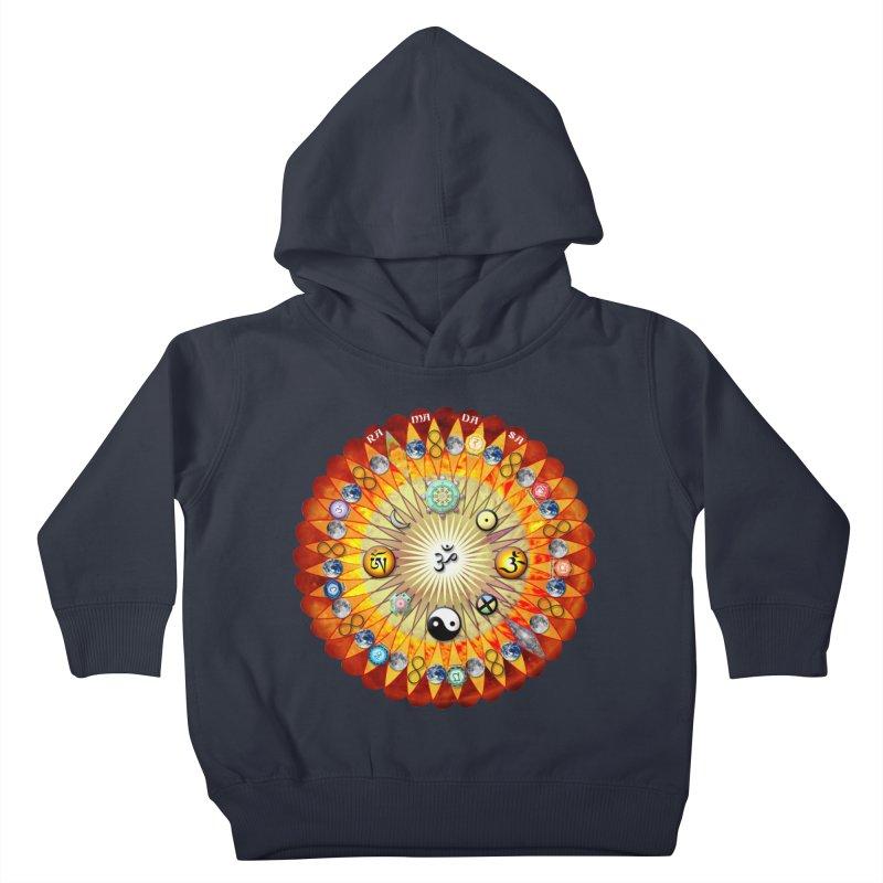 Ra Ma Da Sa Sa Say So Hung Mandala Kids Toddler Pullover Hoody by InspiredPsychedelics's Artist Shop